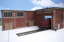 Zucker Fabrik  Einfahrt Links  Spur 1  1:32 koloriert, bemalt , gealtert