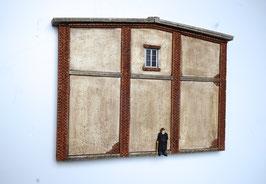 Relief  Genossenschafts Gebäude Rückwand Spur 0  1:45 koloriert bemalt gealtert