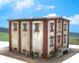 Genossenschafts Gebäude 4 Seiten  Spur 0  1:45 koloriert bemalt gealtert