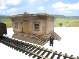 Nebenbahn Güterschuppen Spur 0  1:45 koloriert bemalt gealtert