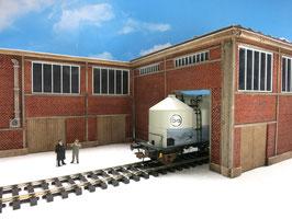 Zucker Fabrik Einfahrt Links Spur 0  1:45 koloriert bemalt gealtert