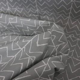 Baumwollstoff Zigzag - mouse grey