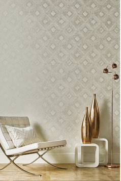 Symmetry - silver shadow - hochwertige Tapete