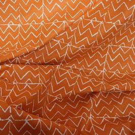 Baumwollstoff Zigzag - orangina