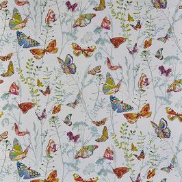 Baumwollstoff Schmetterling - hellblau