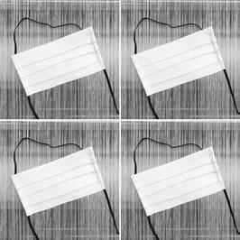 Leinenmasken Set - weiß