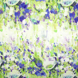 Dekostoff Aquarellblume - grün