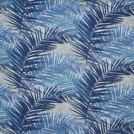Dekostoff Palmen - indigoblau