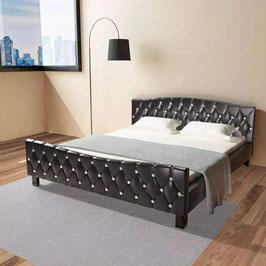 Doppelbett mit Lattenrost schwarz 180 x 200 cm - mit KRISTALLE