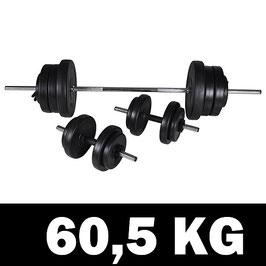 60,5kg Langhantel Kurzhantel - Set