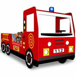 Juniorbett Feuerwehrbett 90x200 rot