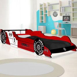 Autobett Rennbett  rot oder grau  -  90 x 200 cm