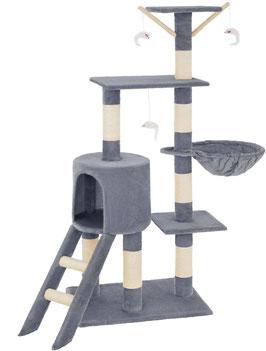 Katzenkratzbaum für Katzen Sisal ca. 50 x 35 x 138 cm Farbe: hell grau