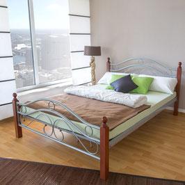 Metallbett in 3 Größen - Doppelbett + Lattenroste