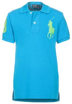 Ralph Lauren Baumwoll-Polo mit Big Pony blau