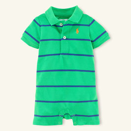 Ralph Lauren Babybody grün-blau gestreift