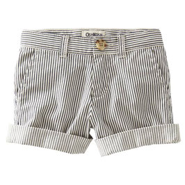 OshKosh Hickory Stripe Shorts Grau