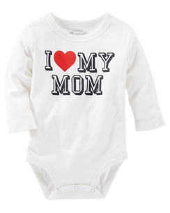 "OshKosh Originals Graphic Bodysuit  ""I love my Mum"""