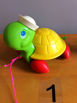 Tortue à tirer Fisher Price vintage - années 70