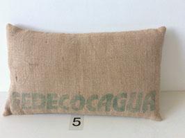 """Coussin """"Pause Café"""" - 30 x 50 cm - Verso suédine CLAIR"""