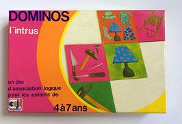 """Jeu éducatif dominos """"L'INTRUS"""" - CEJI - années 70"""
