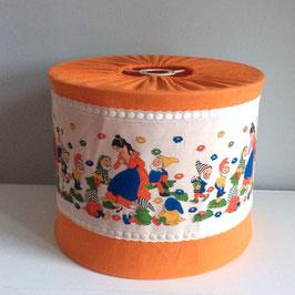 "Abat jour tissu vintage ""Blanche Neige"" (années 70)"