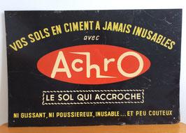 Plaque publicitaire en tôle imprimée