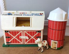 Ferme et silo Fisher Price vintage - années 60