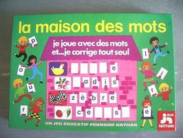 """Jeu éducatif """"La maison des mots"""" - Fernand Nathan - 1978"""