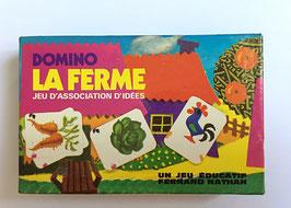 """Jeu éducatif """"DOMINO LA FERME"""" - Fernand Nathan  - années 70"""