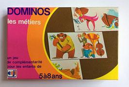 "Jeu  éducatif ""DOMINOS DES METIERS"" - CEJI - années 70"