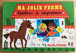 "Boite de tampons "" Ma jolie ferme"" - Fernand Nathan - années 70"