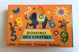 """Jeu éducatif """"DOMINOS DES CHIFFRES"""" - F. Nathan- années 70"""