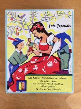 """Loto japonais / puzzle """"Les contes de Grimm"""" - années 50/60"""