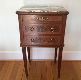 Table de chevet marquetée XIXème de style Louis XVI