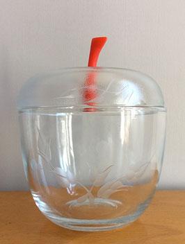 Pomme en verre gravé