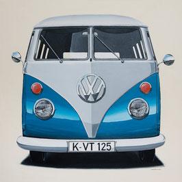 Leinwanddruck Volkswagen T1 Transporter (ohne Wunschkennzeichen)   Unterschiedliche Farben
