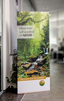 L-Banner Ecostand Holz