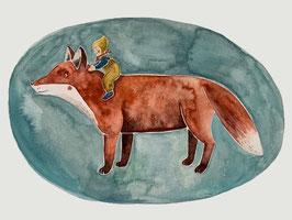Fuchs mit Wichtelkind