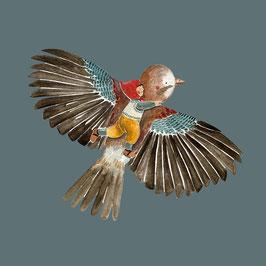 Vogel mit Wichtelkind