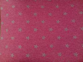 Bündchen pink mit Glitzersternchen 300445/96