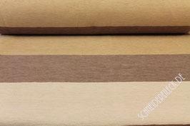 Polsterstoff beige/braun quer gestreift 101212/70/73