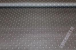 Polsterstoff grau mit Punkten 201282/10