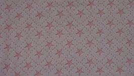 Sweat creme mit rosa Raute mit rosa Sternen