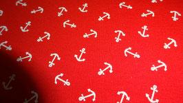 Jersey  rot ,mit kleinen weißen Ankern