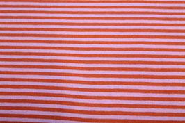 Jersey orangene und rosa Streifen 100129/41