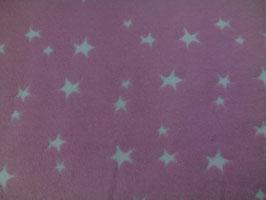 Bündchen lila / weiße Sternchen