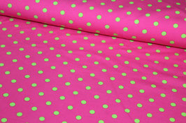 Jersey pink mit grünen Punkten 200145/64