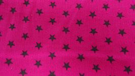Feinkord pink mit braunen Sternen