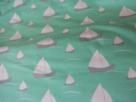 Sweat mintgrün mit weißen Segelschiffen